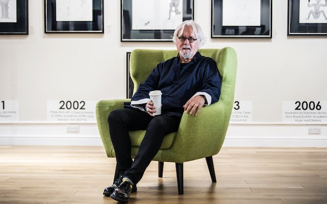 """John Devlin 15/11/2018. GLASGOW. Castle Fine Art - Queen Street.NEW ARTWORK BY SIR BILLY CONNOLLY  UNVEILED AT GLASGOW GALLERY.A new collection of artwork by Sir Billy Connolly will be exhibited at a Glasgow gallery. The third instalment of the Born on a Rainy Day series will be available to view at Castle Fine Art on Queen Street from Friday 16th until Friday 30th November. It comprises a selection of original ink drawings and limited edition prints signed by the award-winning actor, comedian and musician. Born On A Rainy Day was given its title after Billy was in Montreal on a very cold, rainy day. He bought some pens and a sketchbook and began to draw. Initially drawing desert islands, he soon began to repeat and experiment, eventually refining his ideas. Billy's initial ink drawings received critical acclaim and were highly sought after by his fans and collectors. He released a second instalment a year later, demonstrating a developed style and experimentation with composition and colour. Allowing each of his images the freedom to become 'whatever it is destined to become', Billy evolves his illustrations as he creates them. His creative process mirrors that of the Surrealist automatism movement, whereby the artist allows the hand to move randomly across the paper or canvas, without intent to create anything specifically. Speaking about his artwork, Billy Connolly said: """"My art bears no relation to comedy or music. It is pure and unjudged and I am creating for myself. It is personal and private, whereas with a film, comedy show or music you expect people to be critiquing, watching, assessing. Art is different - it liberates you."""" Nicola Duffy, gallery manager at Castle Fine Art, Glasgow, said: """"Billy Connolly is a true national treasure and we couldn't feel more privileged to exhibit his work here in Glasgow. """"Billy's artwork has a unique, humorous charm which has always been hugely popular with his fans, and we can't wait to"""