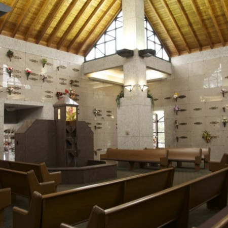 Chapel of Peace - holds 96 people for services