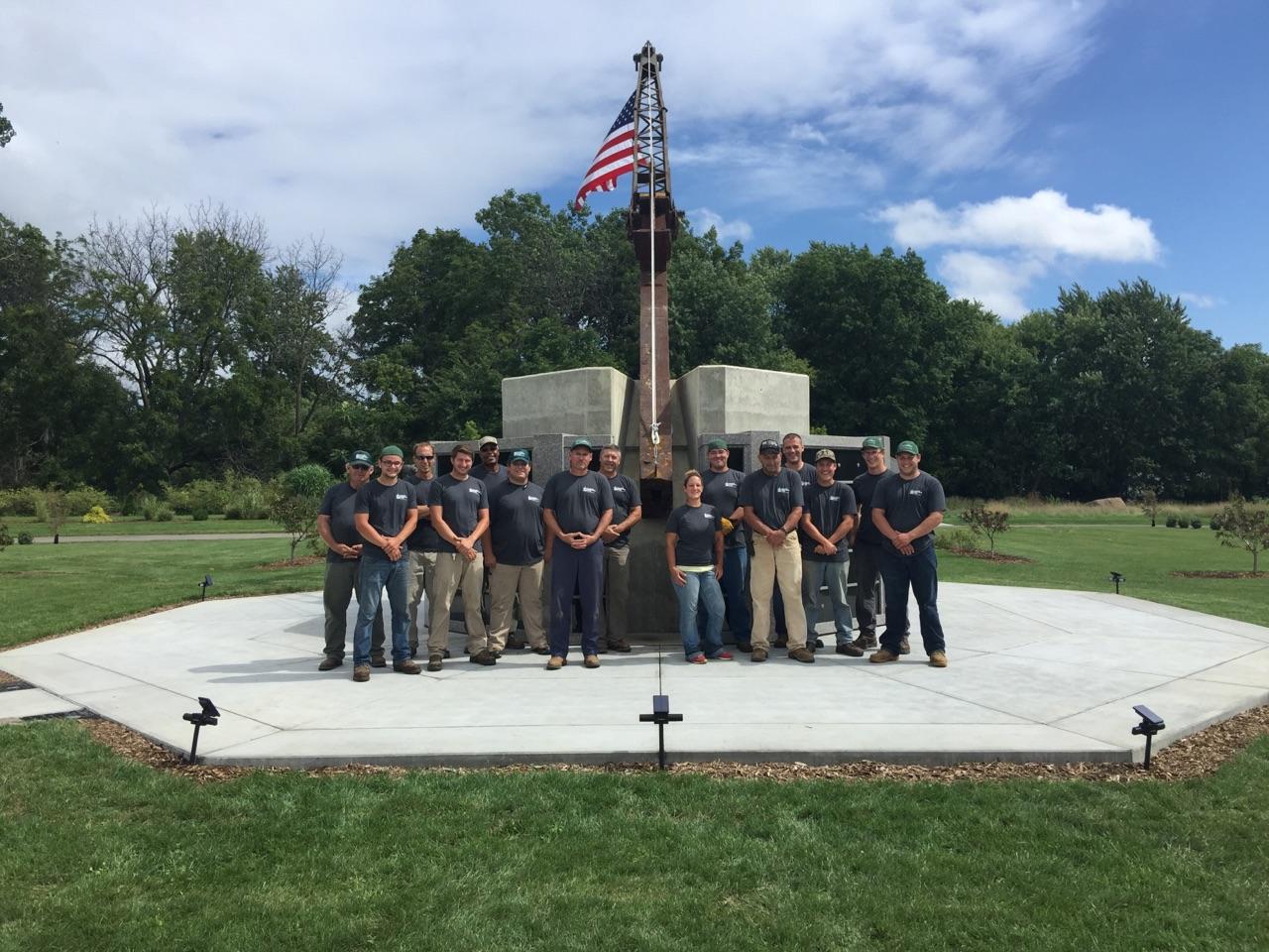 Toledo Memorial Park Ground's Crew - day of dedication September 10th, 2016