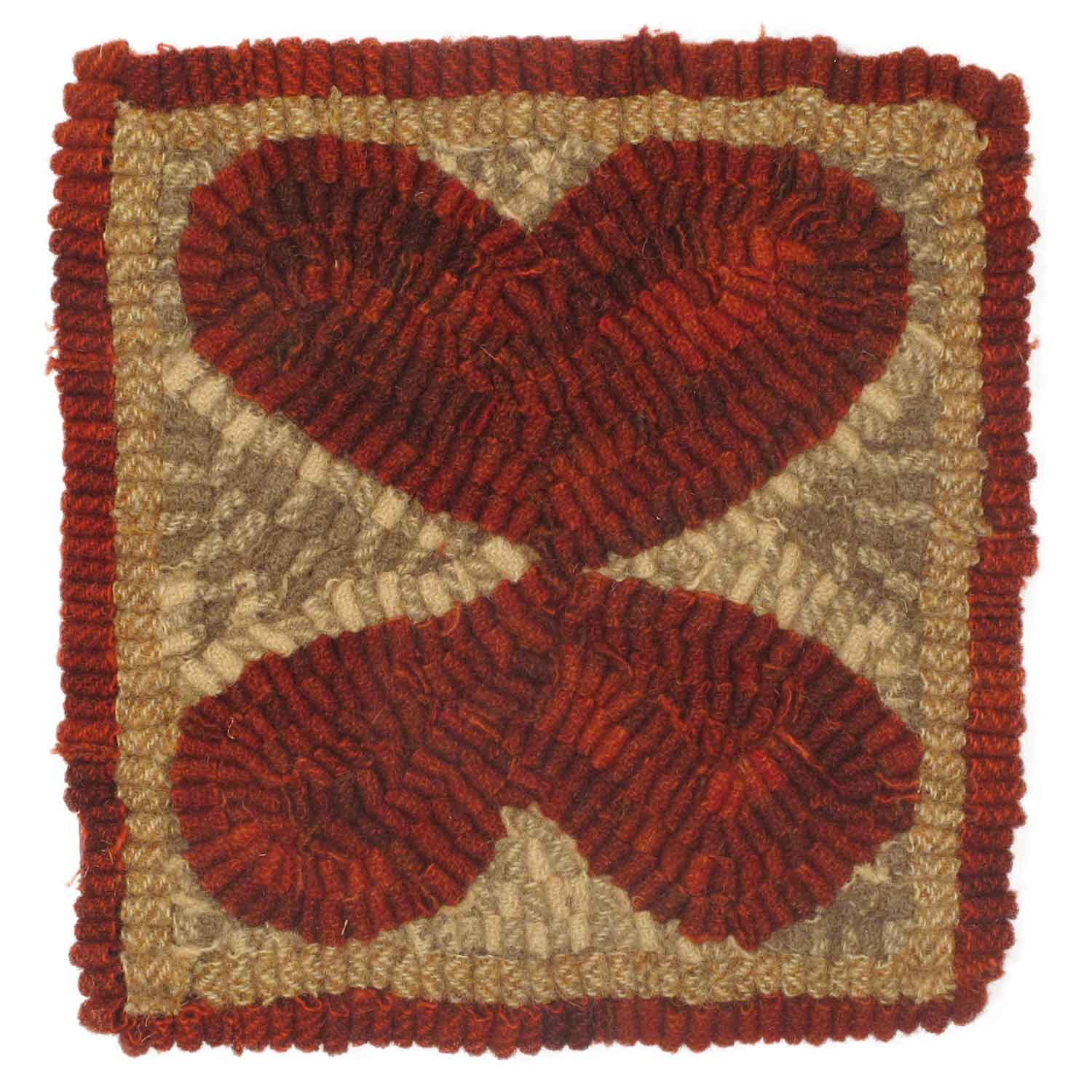 Butterfly Valentine Hooked Rug