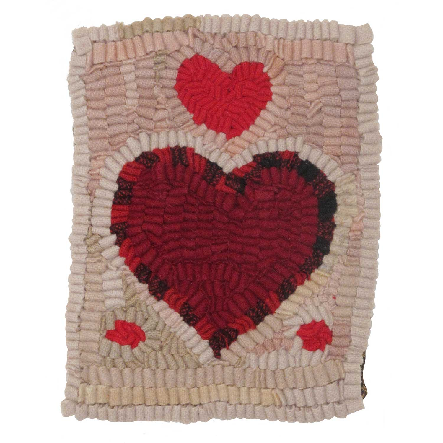 Little Sweet Hearts Valentine Hooked Rug