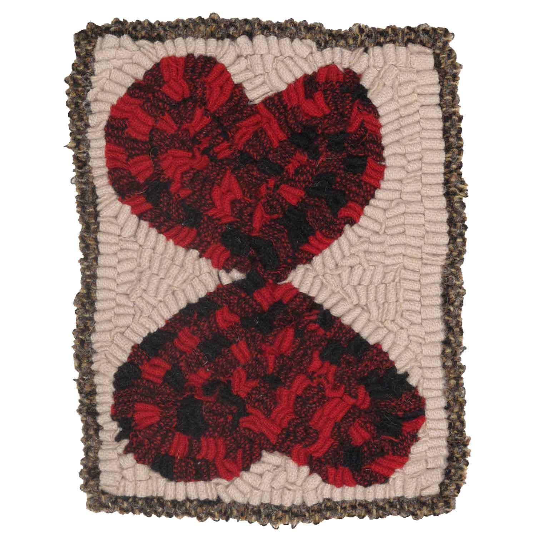 Forever Valentine Hooked Rug