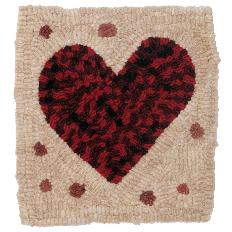 Polkadot Valentine Hooked Rug