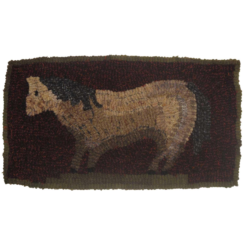 Dun Pony Hooked Rug
