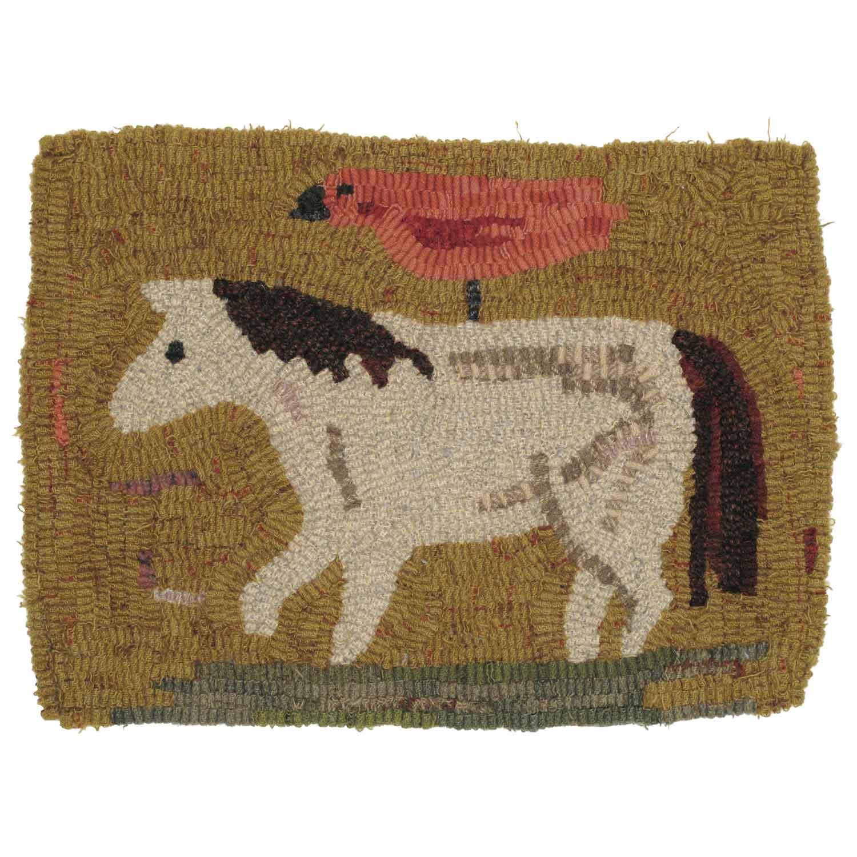 Georgia the Pony Hooked Rug