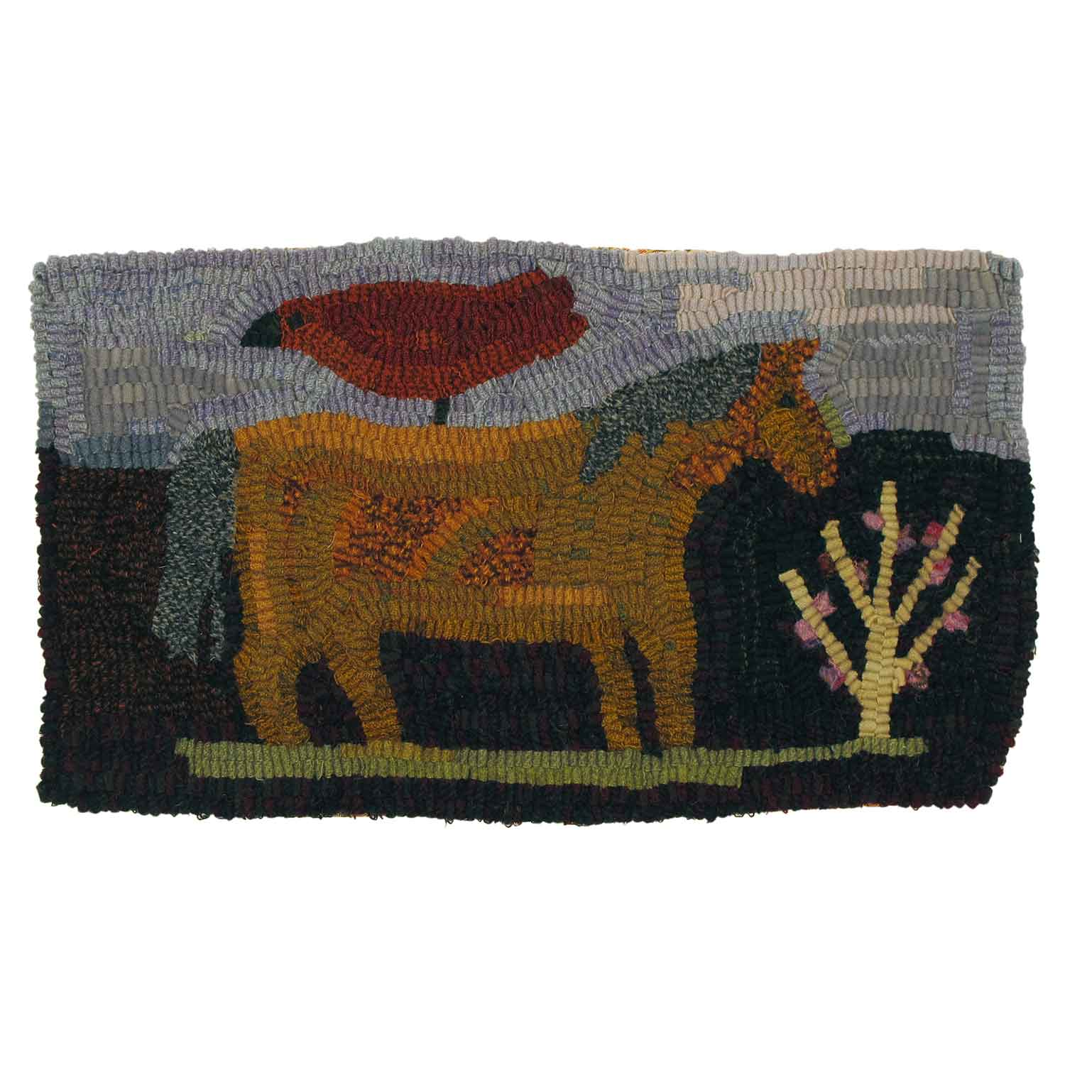 Mimi's Horse Hooked Rug