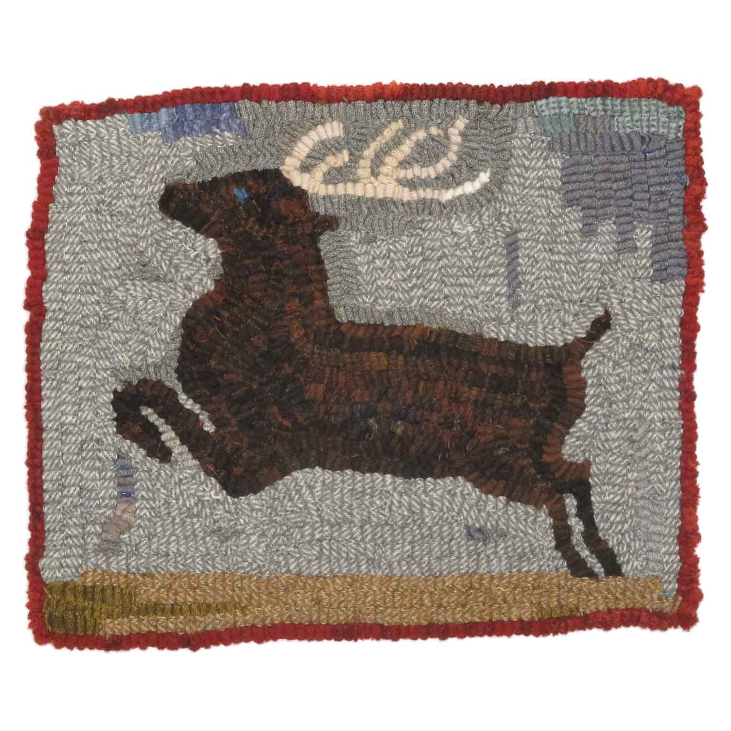 Stag Hooked Rug