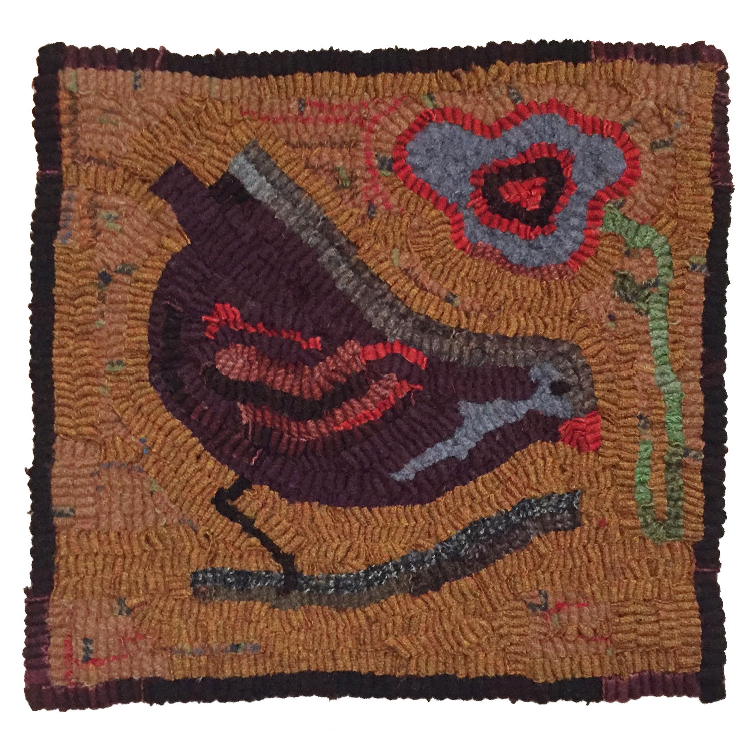 Franklin the Bird Hooked Rug