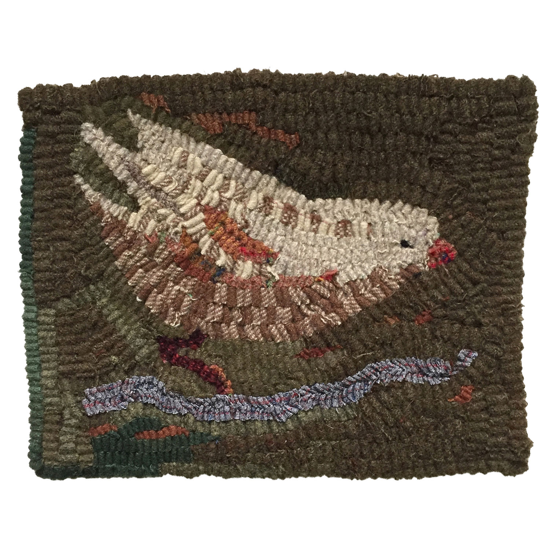 Jenny the Bird Hooked Rug