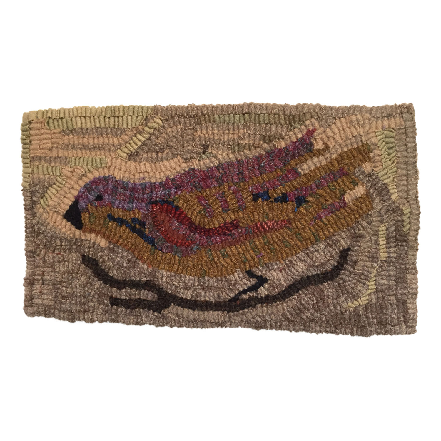 Ruthie the Bird Hooked Rug
