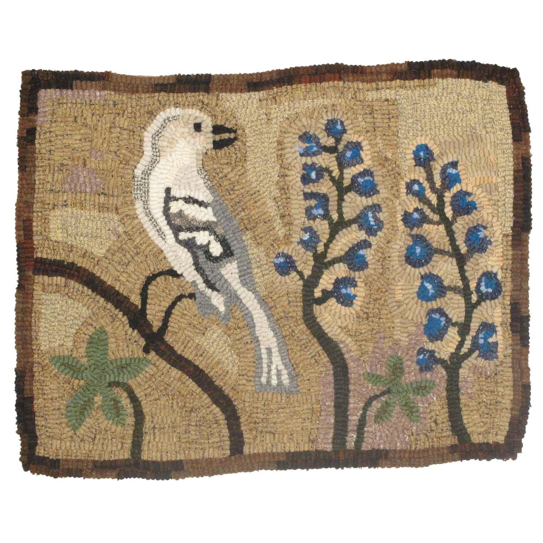 Texas Bird Hooked Rug