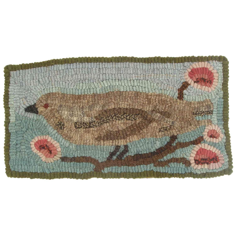 Tweet the Bird Hooked Rug