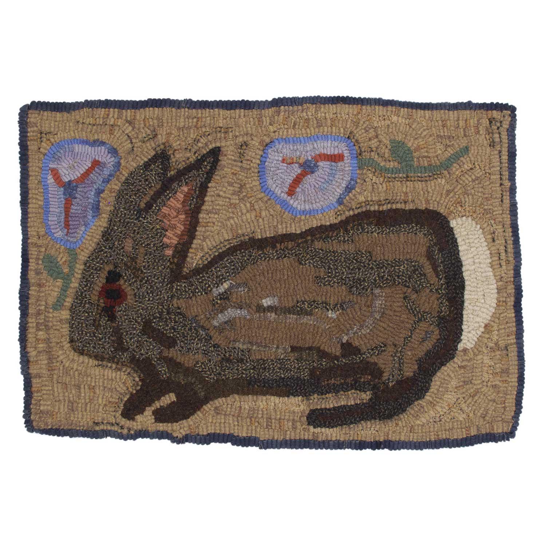 California Rabbit Hooked Rug