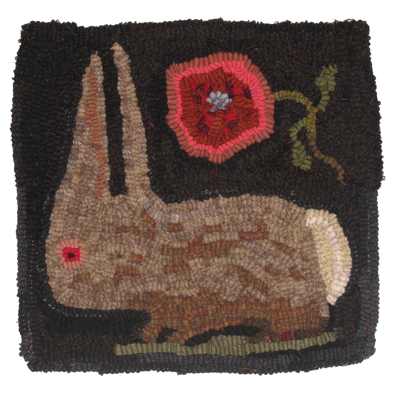Ella the Rabbit Hooked Rug