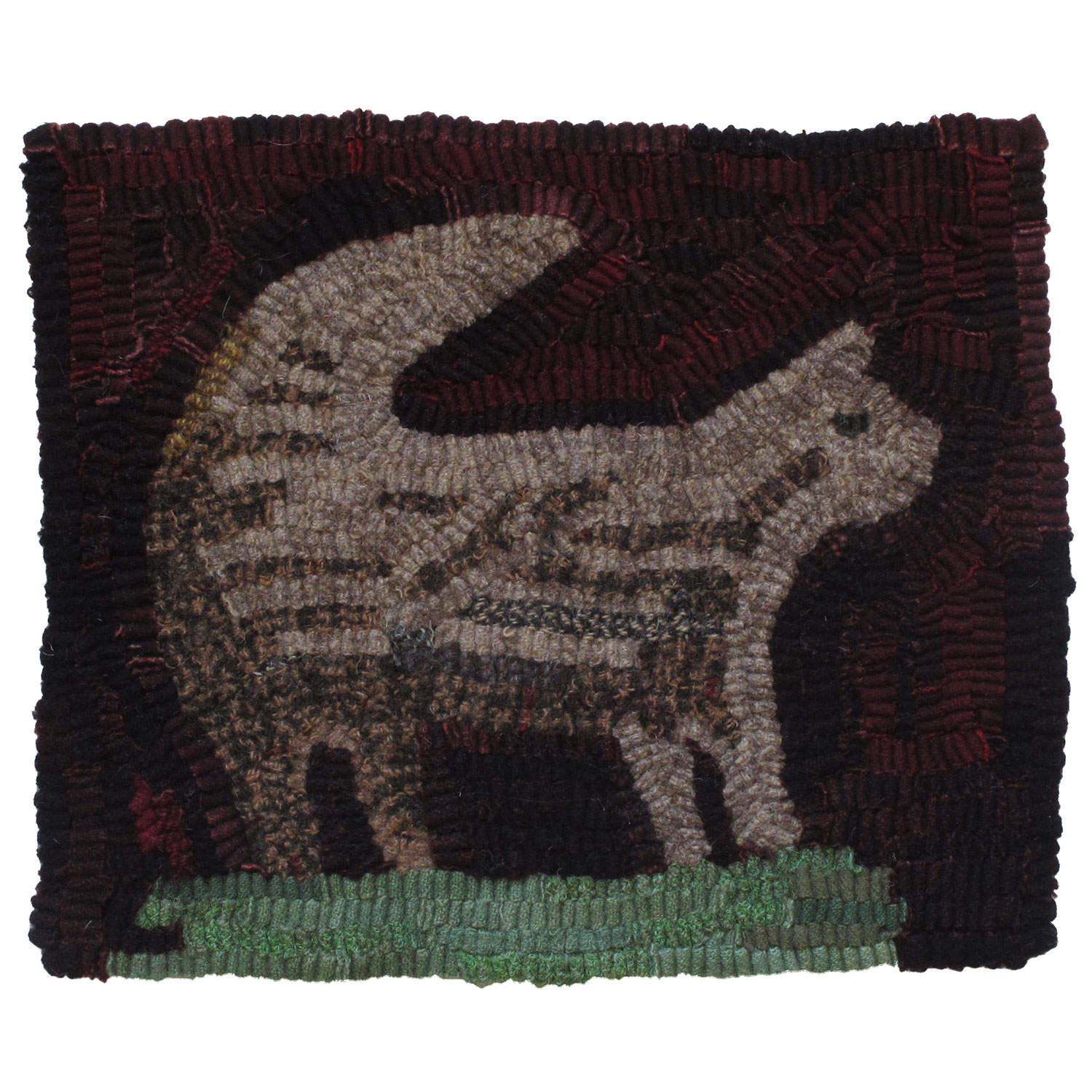 Grayson the Cat Hooked Rug