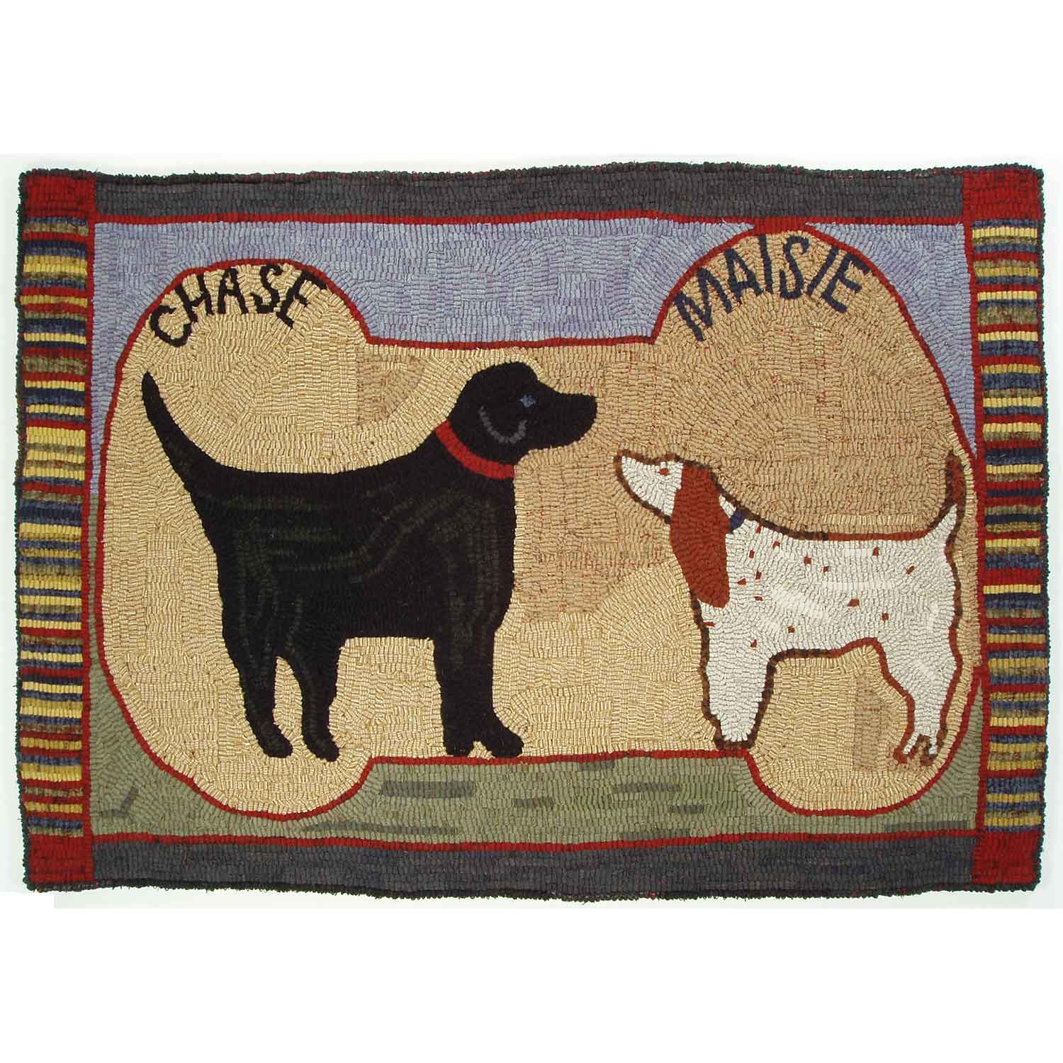 Chase and Maisie Hooked Rug