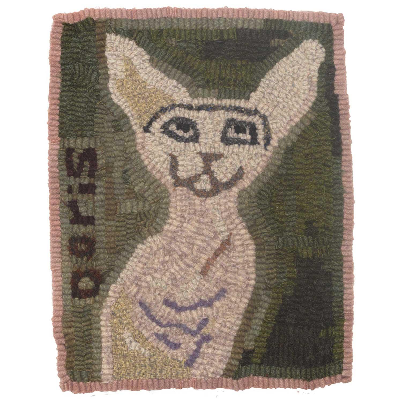 Doris the Cat Hooked Rug
