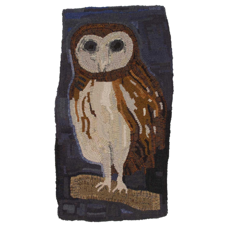 Pine Grove Owl Hooked Rug