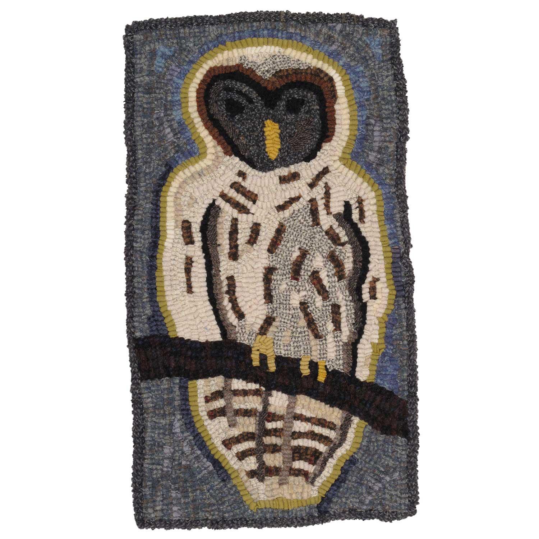 Quiet Owl Hooked Rug
