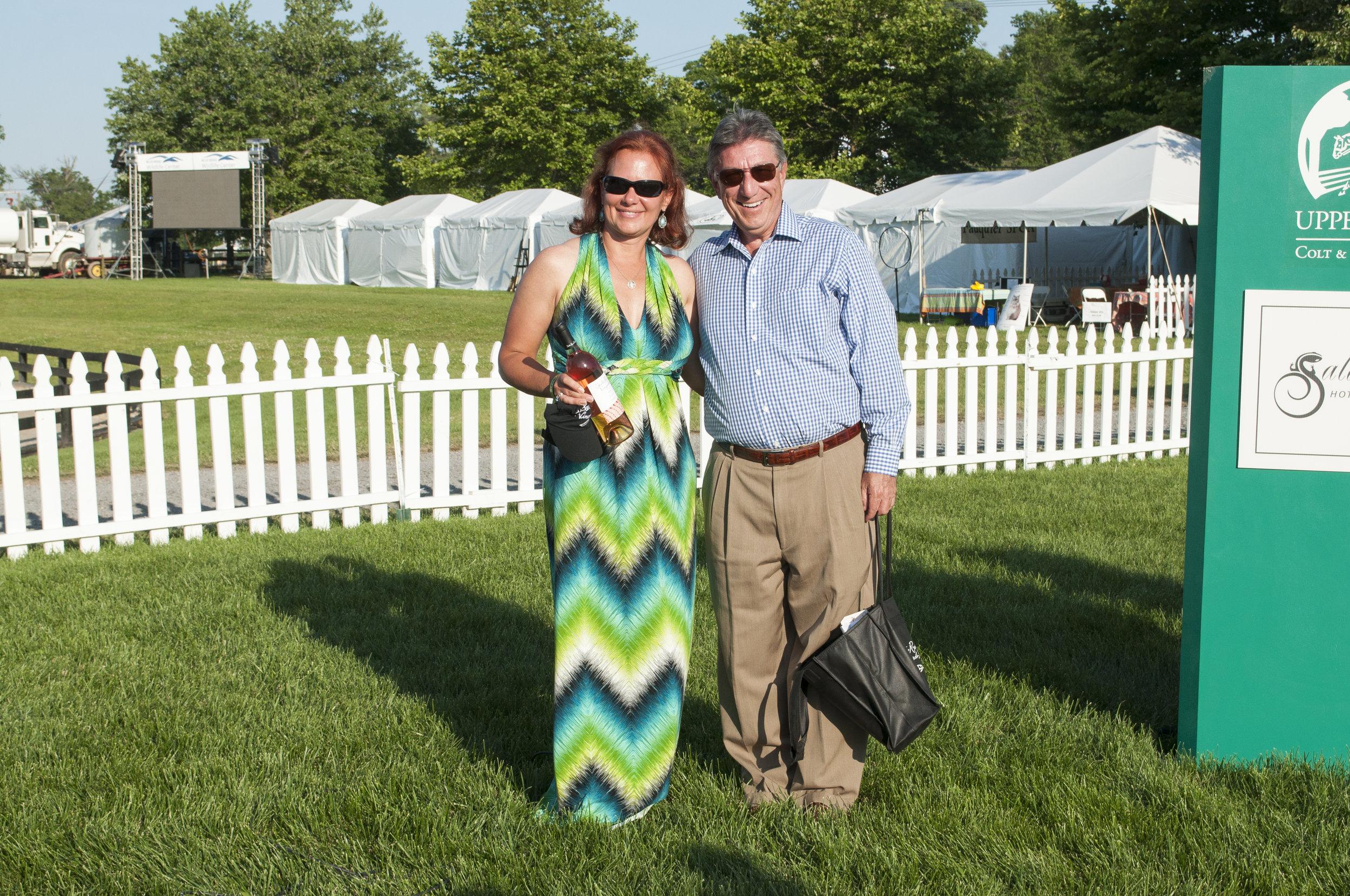 Bethann Beeman of Salem Oaks Farm and Stephen Plescow, President of Seven Loaves