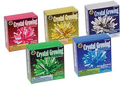 Crystal Growing Kit, Ages 10 & Up, purchase it    here    The perfect stocking stuffer for your budding scientist, this crystal growing kit contains everything you need to grow crystals at home! Watch as your crystals form, change, and grow over several days. Available in a variety of colors.