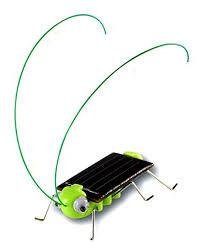 Solar-Powered Bug Kit, Ages 10 & Up, purchase it    here    Learn about solar technology with the Solar-Powered Bug Kit! Powered by the sun or a non-fluorescent light, this grasshopper-sized robot wiggles and lights up when charged. The perfect gift to teach your technology enthusiast about alternative energy sources.