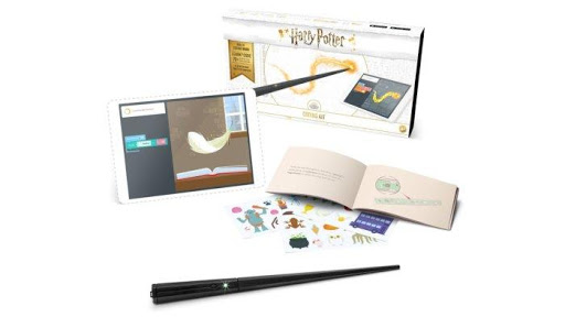 Kano Harry Potter Coding Kit, Ages 6 & Up, purchase it    here    Enter the world of Harry Potter and create magic with the Kano Harry Potter Coding Kit! The kit comes with everything needed for your young wizard to build and code their very own wand. Step by step guides and the free Kano app bring the magic to life!