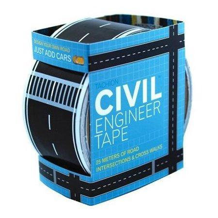 Civil Engineer Tape, Ages 3 & Up, purchase it    here    Allow your little engineer to pave the way with a roll of Civil Engineer Tape. Engineer roads, highways, intersections and more with this fun roll of tape. Designed for matchbox-sized cars, this small gift is perfect for fostering imaginative play.