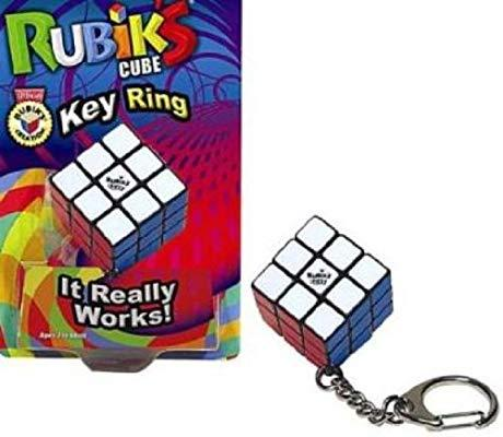 Rubik's Key Chain, Ages 8 & Up, purchase it    here    The classic Rubik's puzzle, now in a working key chain! Clip it on a backpack or tuck it in your pocket for puzzle-solving on the go.