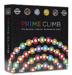 Prime Climb, Ages 10 & Up, purchase it    here    Part strategy game, part math game, Prime Climb is perfect for math-lovers, both kids and adults alike! The color coding system makes multiplication and division quick and easy to learn, all while teaching about prime numbers.