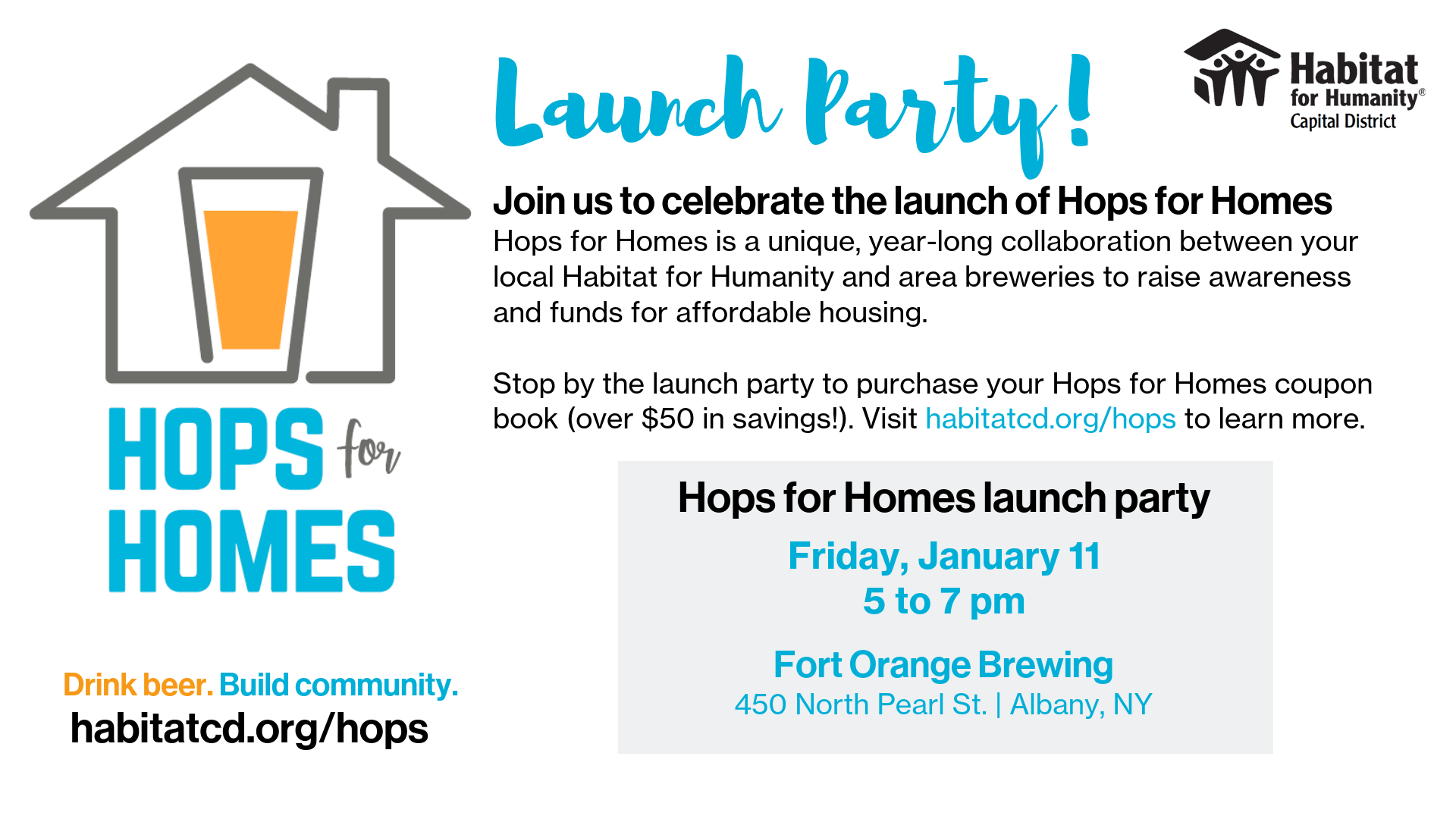 hops for homes launch