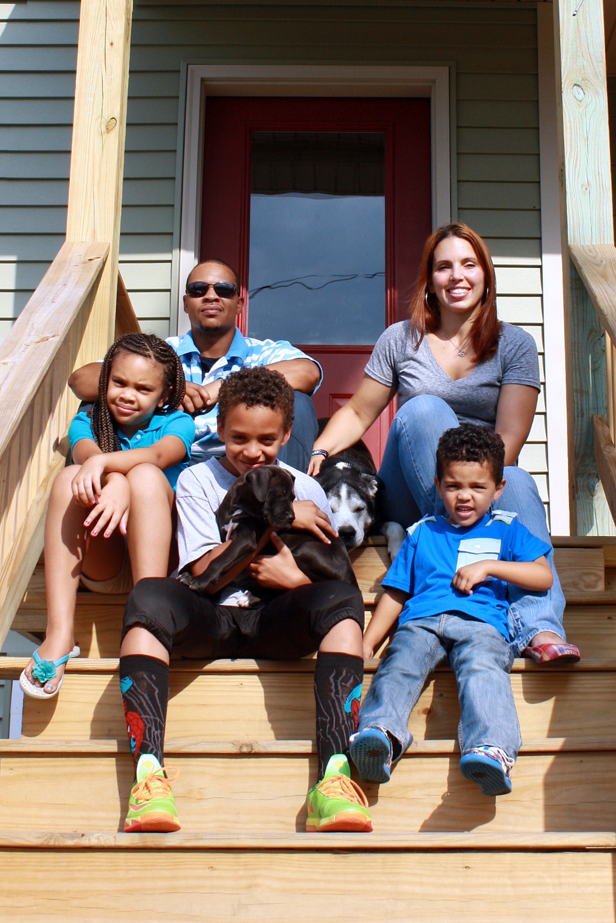 Your monthly gift helps support all families partnering with Habitat, like the Lane family pictured above. Habitat families average  25 hours  a month completing their required 250 hours of sweat equity.