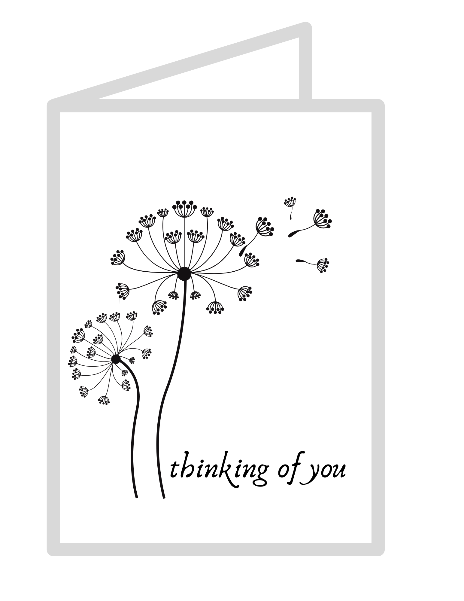 It is a picture of Modest Printable Thinking of You Card