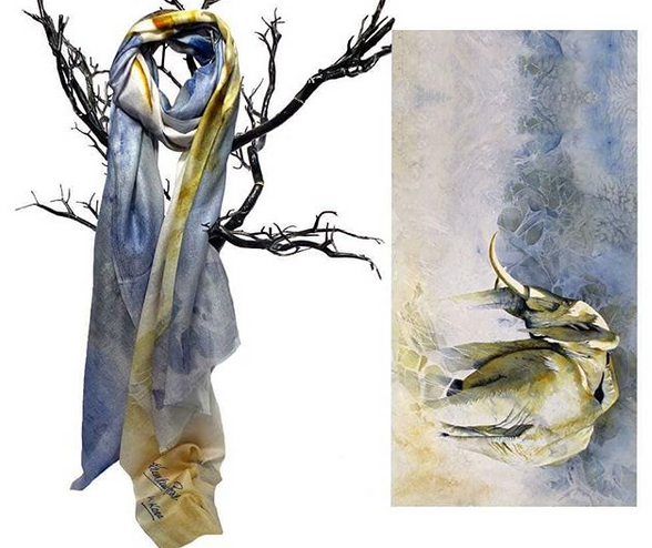 Mia Kora collection… - An exclusive range of scarves with stunning artwork on gorgeous fabrics that support wildlife conservation.
