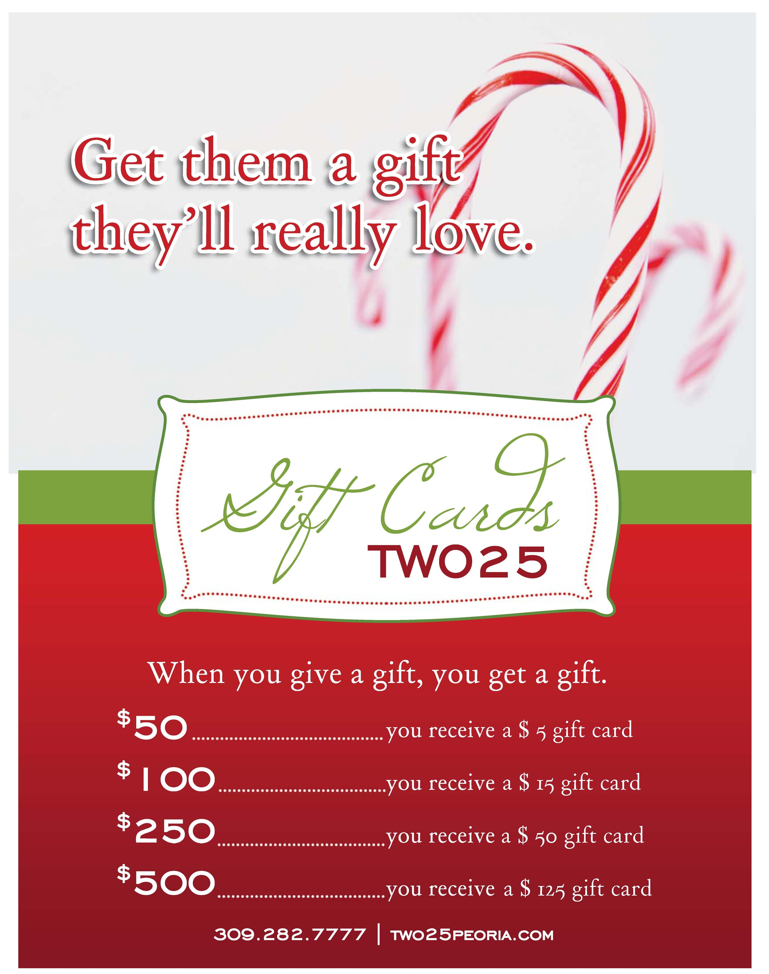 Gift Cards Are On Special All Month Long Two25 Restaurant