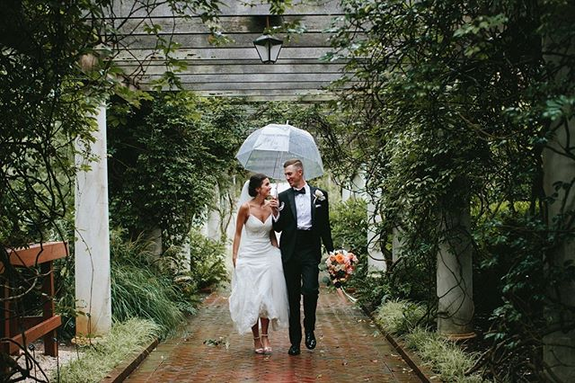 The rain is on its way here to Charlotte 🌧 Just a reminder if there is rain on your wedding day, don't be discouraged! Sure, your dress might get a little dirty, but that's just a sign of a good time! Roll with the punches, go dancing in the rain with your hunny, have a blast! #amorevitaphotos