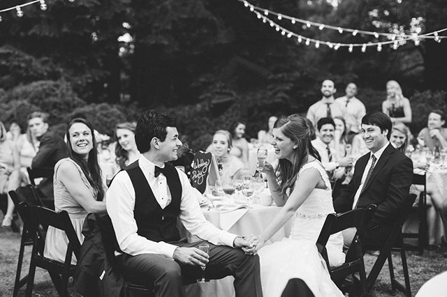 """Is it just me or can you almost hear the laughter coming off this picture? This is one of those """"feel like you're there"""" photos for me and I absolutely love that. It's what I try to achieve at every wedding I shoot. This will forever and always be a favorite of mine from Maddy and Moses' day. #amorevitaphotos"""