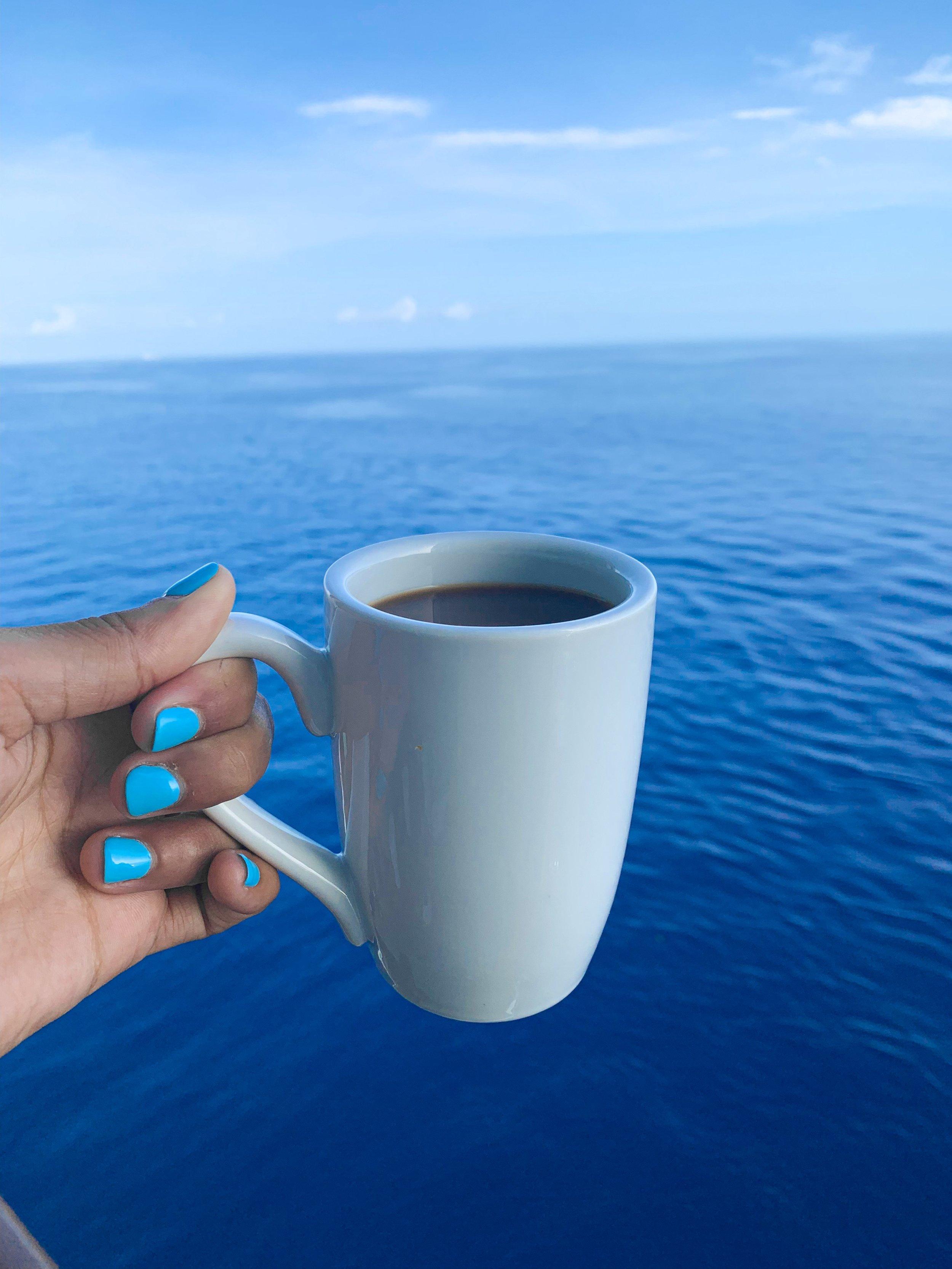 A day at sea.