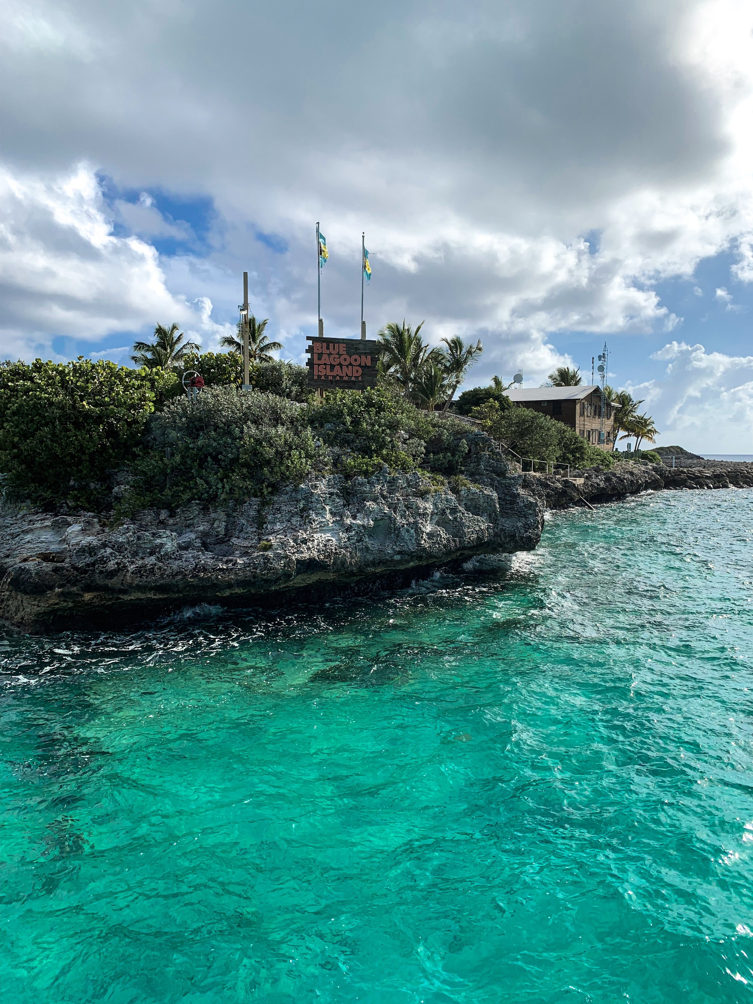 We sailed to a private beach, where we spent our time at in Nassau.