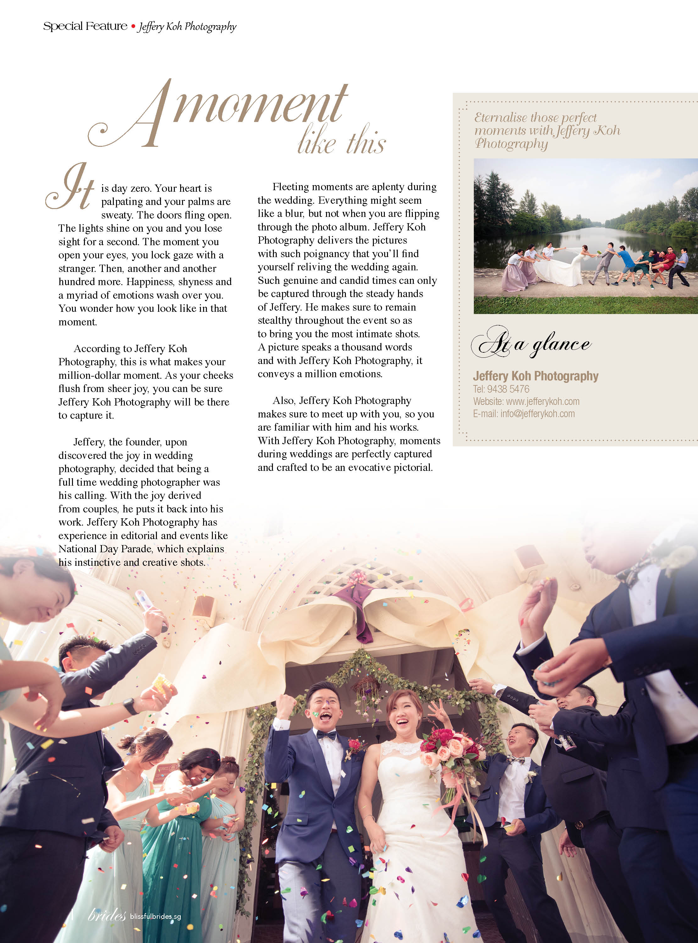Special Feature on Blissful Brides Magazine (Jul-Dec 2016)