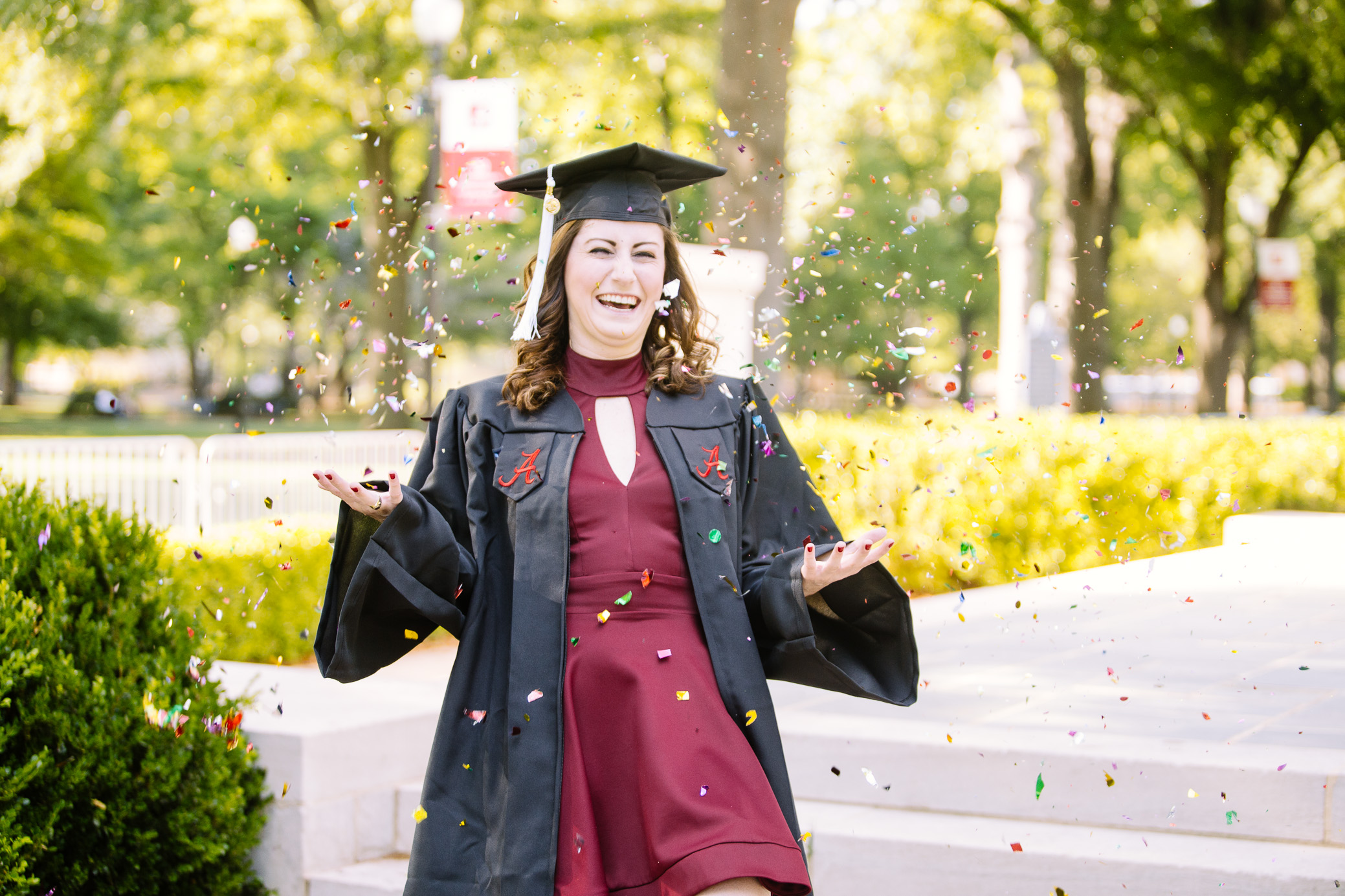University of Alabama graduation portrait photography in Tuscaloosa, Alabama by David A. Smith of DSmithImages Wedding Photography, Portraits, and Events in Birmingham, Alabama