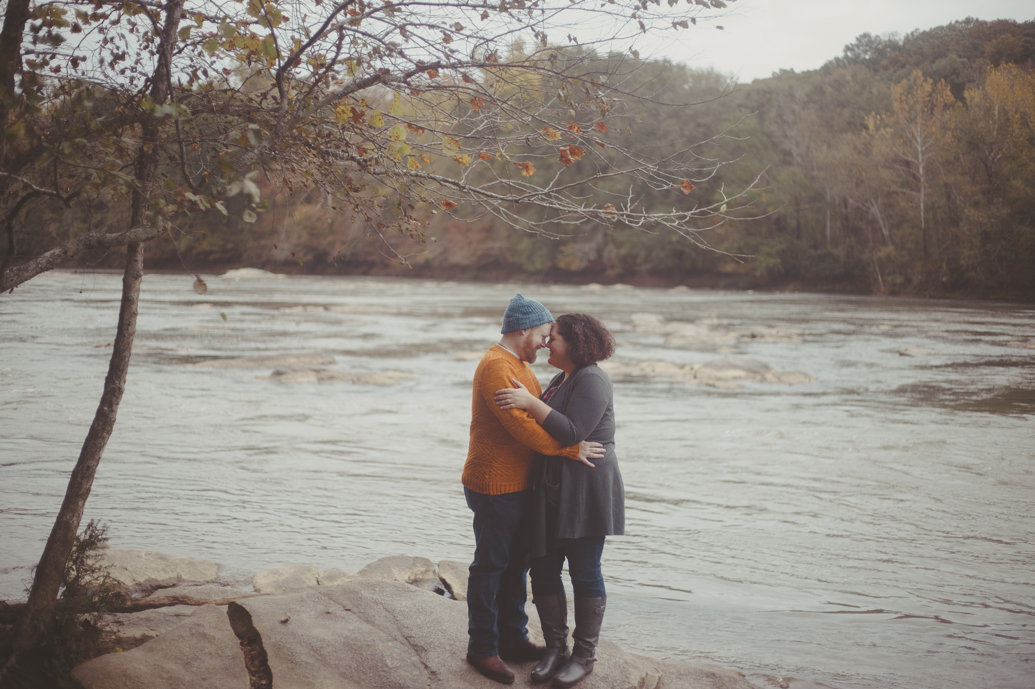 Atlanta, Georgia engagement photography at the Chattahoochee River National Recreation Area by David A. Smith of DSmithImages Wedding Photography, Portraits, and Events in the Birmingham, Alabama area.
