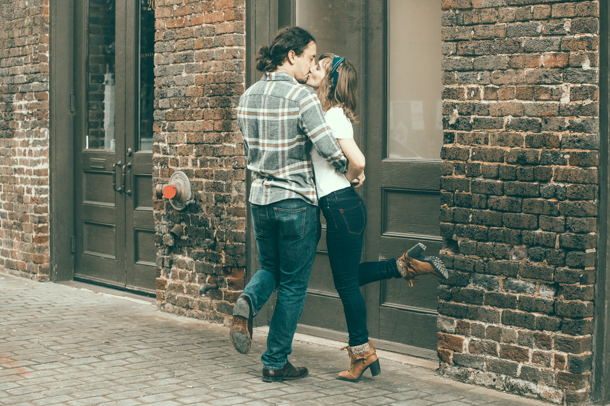 Engagement photography in the Morris Avenue area in Birmingham, Alabama by David A. Smith of DSmithImages Wedding Photography, Portraits, and Events.