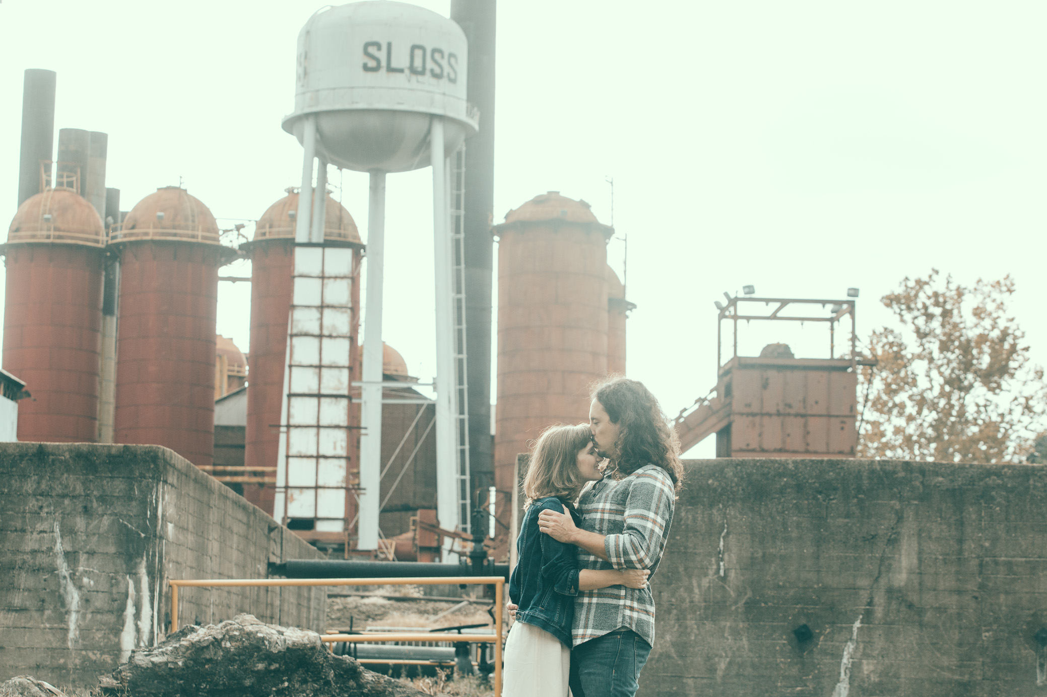 Engagement photography at Sloss Furnaces National Historic Landmark in Birmingham, Alabama by David A. Smith of DSmithImages Wedding Photography, Portraits, and Events.