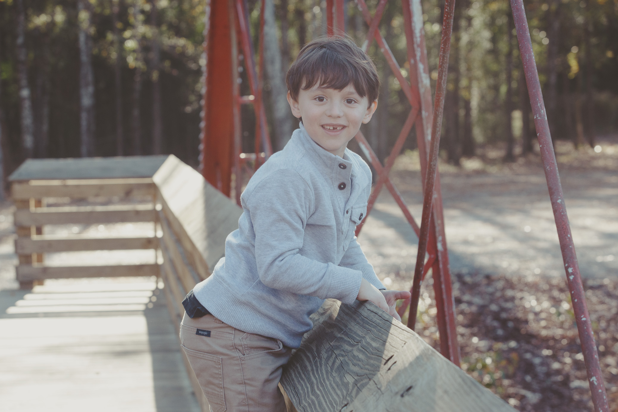 Family portrait photography for the Myers family at the Van de Graff Arboretum in the Northport/Tuscaloosa, Alabama area on November 19th, 2017 by David A. Smith of DSmithImages Wedding Photography, Portraits, and Events in the Birmingham, Alabama area.