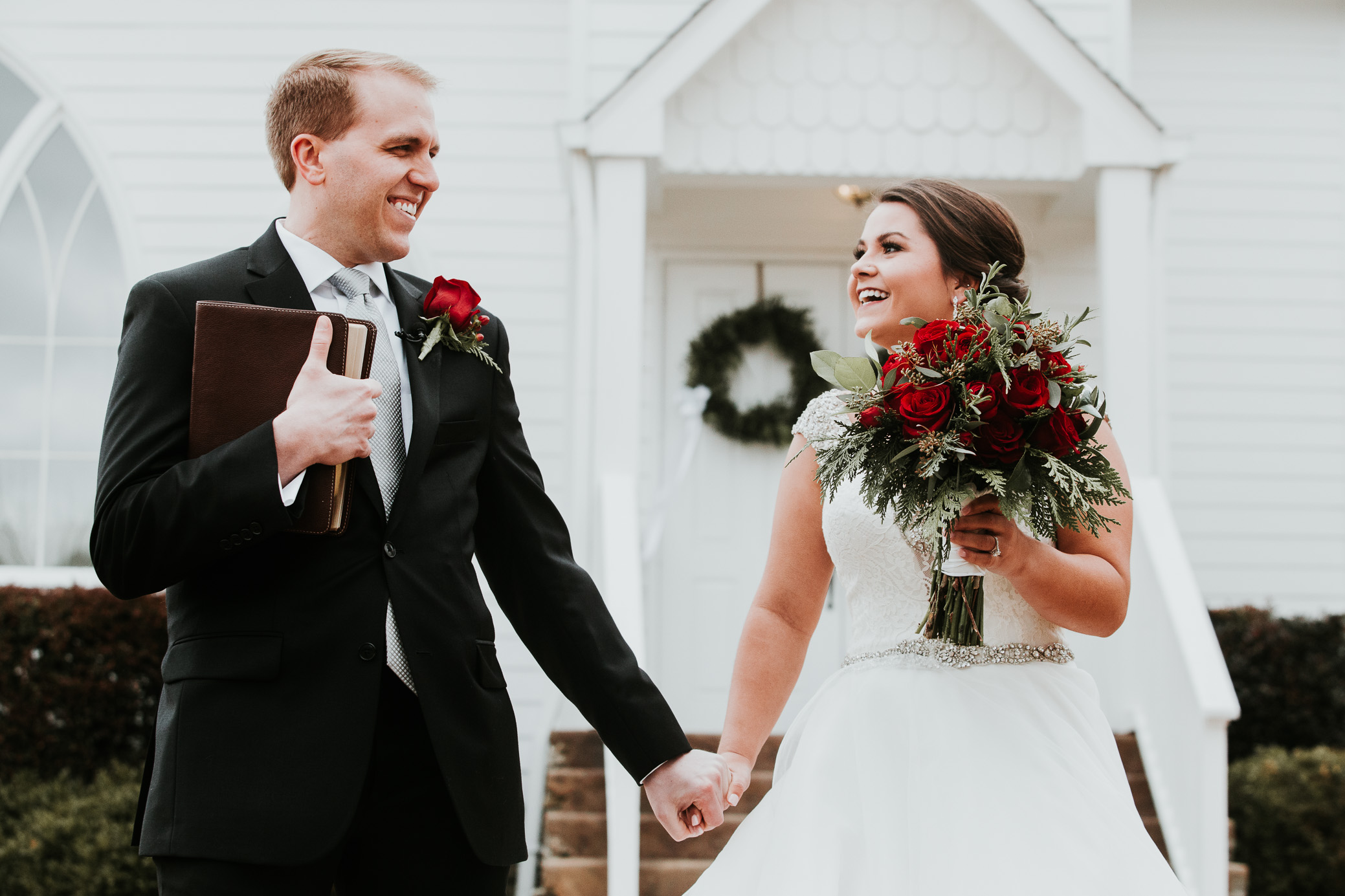 Winter wedding photography for Elise and Neil at Christ Church in Odenville, Alabama on January 13th, 2018 by David A. Smith of DSmithImages Wedding Photography, Portraits, and Events in the Birmingham, Alabama area