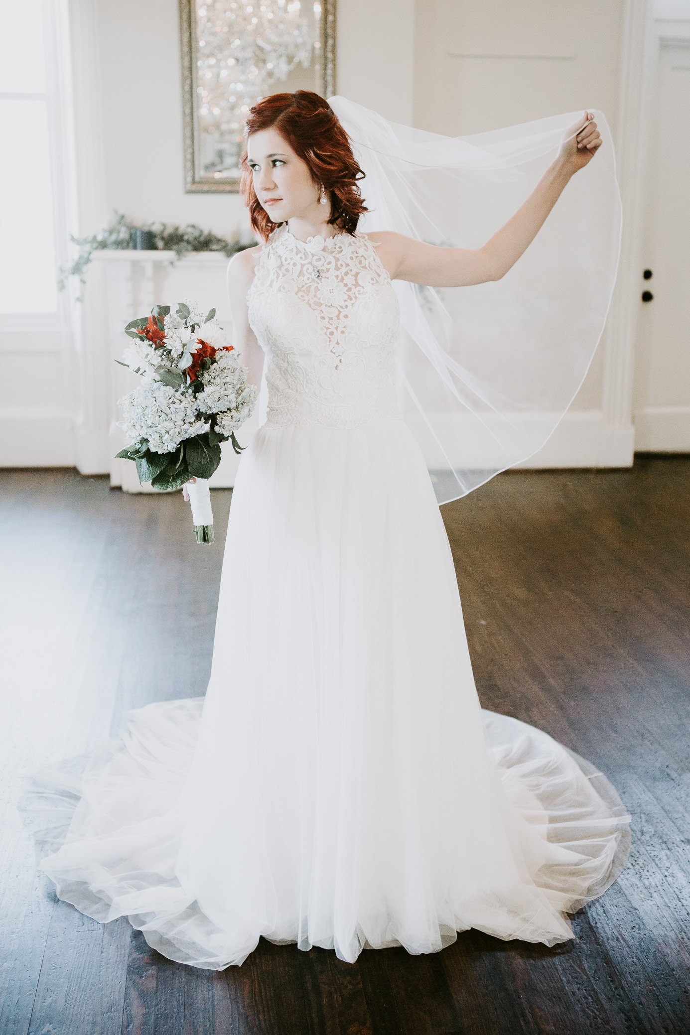 Tuscaloosa, Alabama bridal photography at Historic Drish House by David A. Smith of DSmithImages Wedding Photography, Portraits, and Events in the Birmingham, Alabama area.