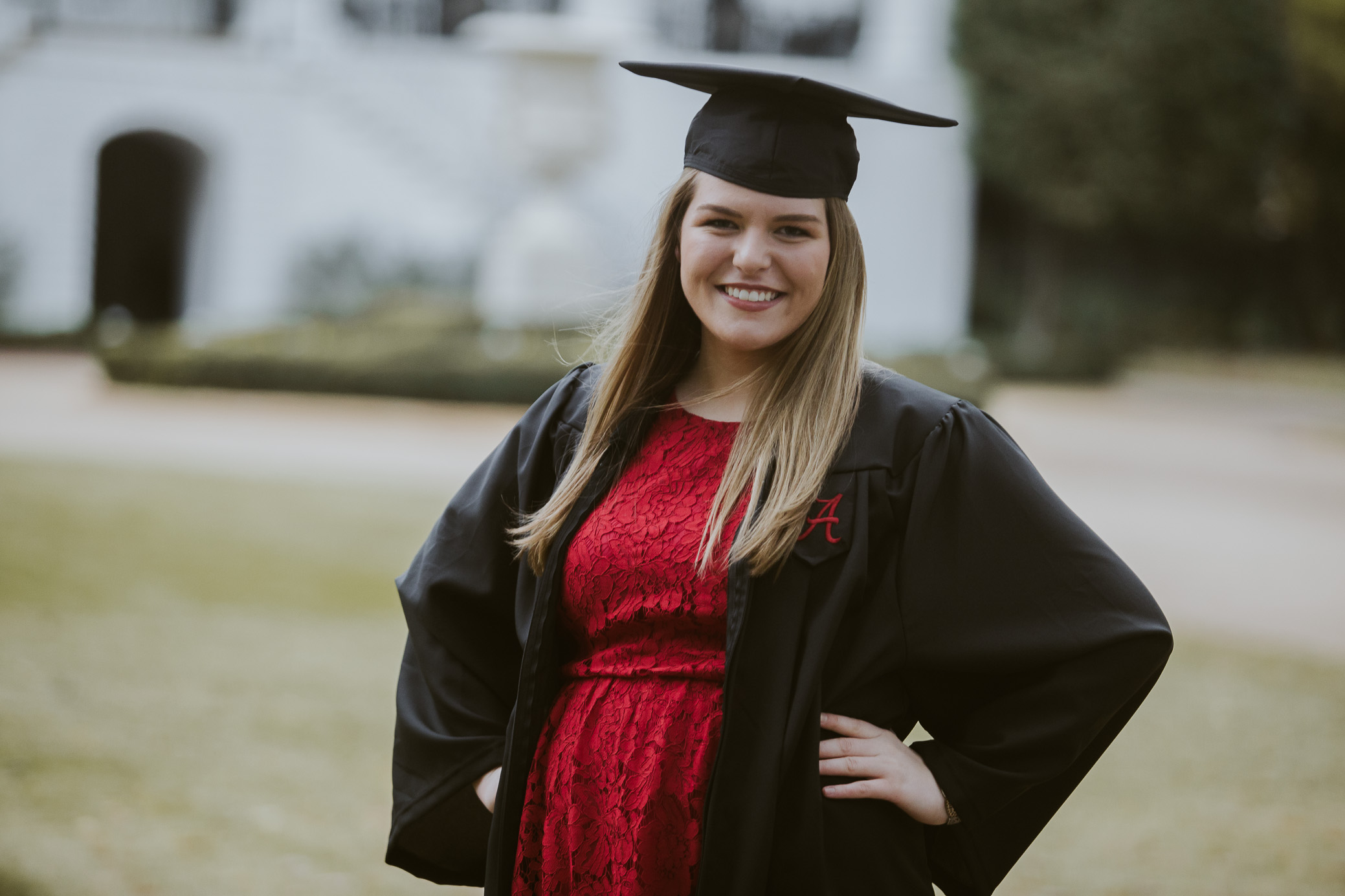 University of Alabama graduation portraits taken during the fall semester in Tuscaloosa, Alabama on November 13th, 2018 by David A. Smith of DSmithImages Wedding Photography, Portraits, and Events in the Birmingham, Alabama area.