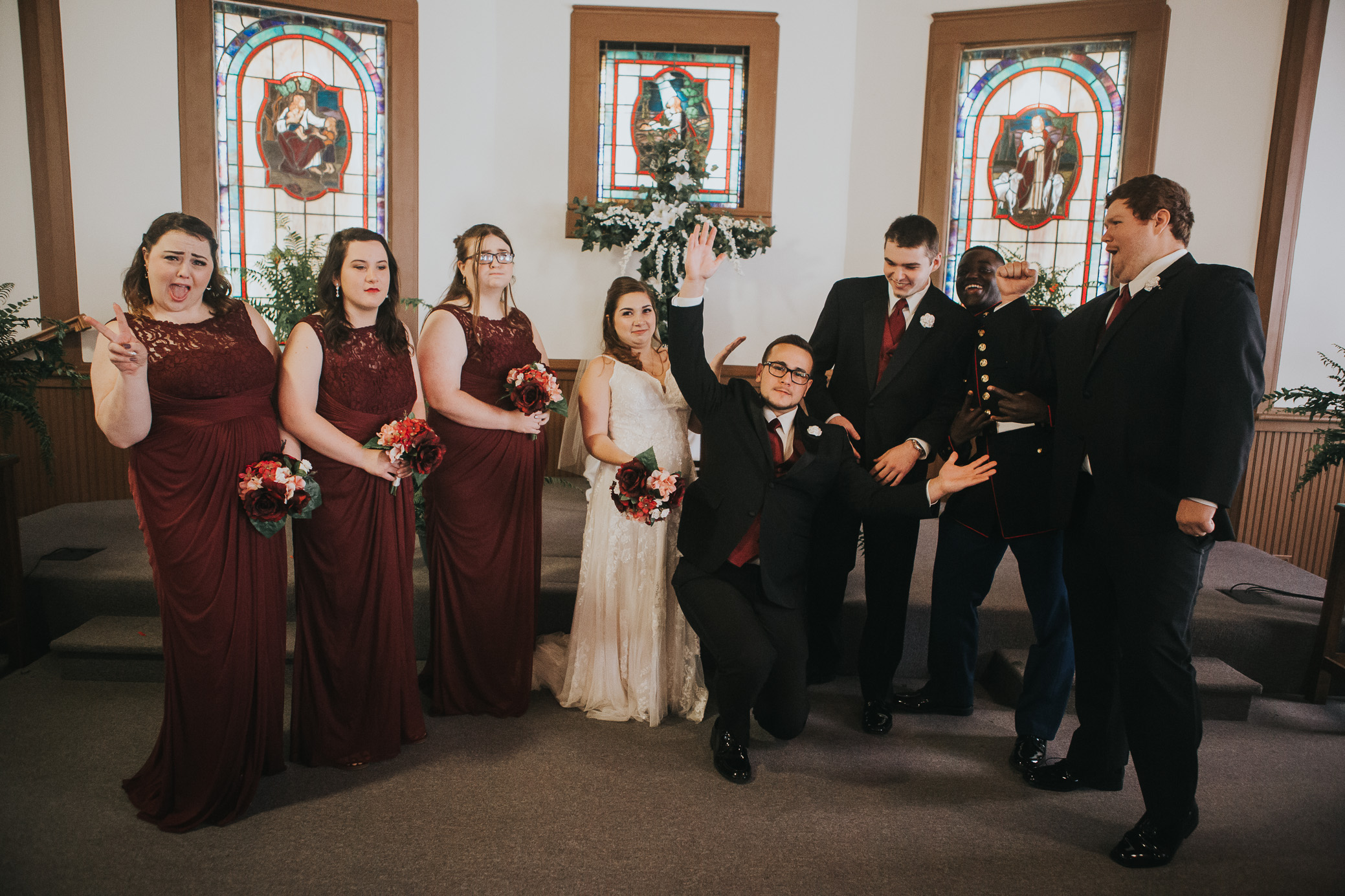 Alabama wedding photography at Odenville Presbyterian Church in Odenville, Alabama on November 10th, 2018 by David A. Smith of DSmithImages Wedding Photography, Portraits, and Events in the Birmingham, Alabama area.