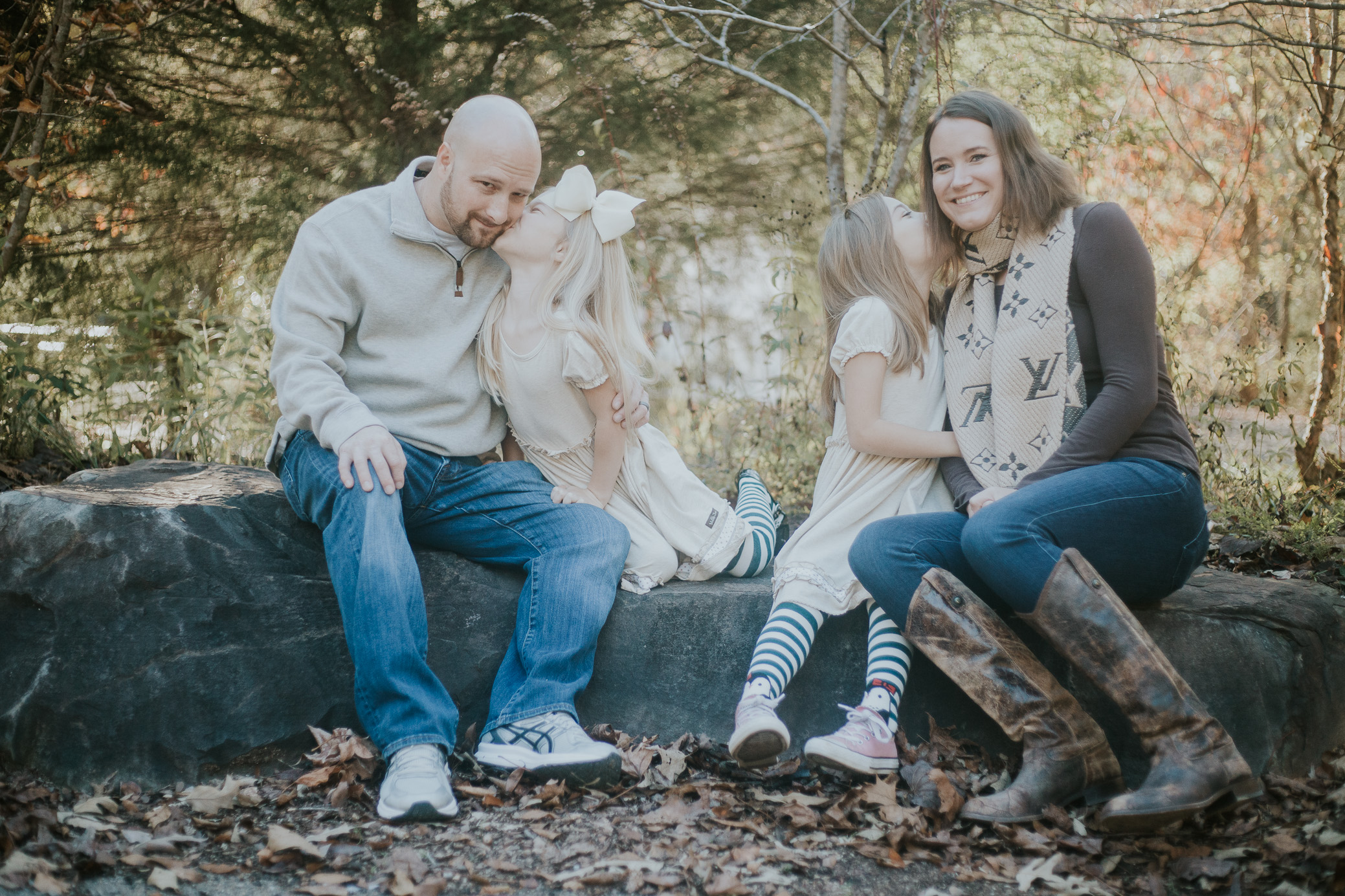 Family portraits at Turkey Creek Nature Preserve in PInson, Alabama by David A. Smith of DSmithImages Wedding Photography, Portraits, and Events, a portrait photographer in the Birmingham, Alabama area.